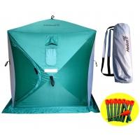 Палатка зимняя куб 1,8х1,8 (3зеленый/2серый) Helios