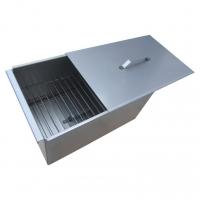 Коптильня двухъярусная с поддоном для сбора жира 450х280х240 (сталь 1,5 мм) Тонар (К-001)